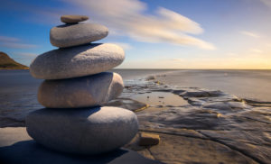 Canva Stacked of Stones Outdoors