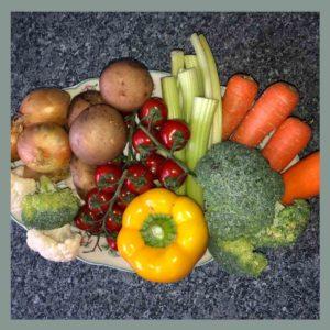regionales buntes Gemüse für die Ernährung